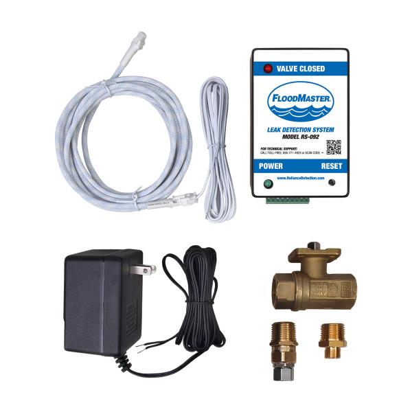 Dishwasher and hose-fed appliance leak detection kit - plug-in