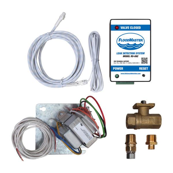 Dishwasher and hose-fed appliance leak detection kit - hard-wired