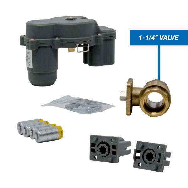 "Wireless actuator and 1-1/4"" automatic shutoff valve"